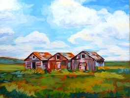 Three Old Neighbours - SOLD