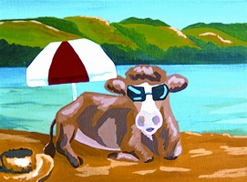 Cow Sunglasses - SOLD