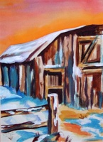 Winter Barn - SOLD