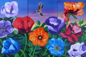 Power of Poppies - triptych